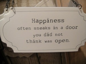 Happiness in door
