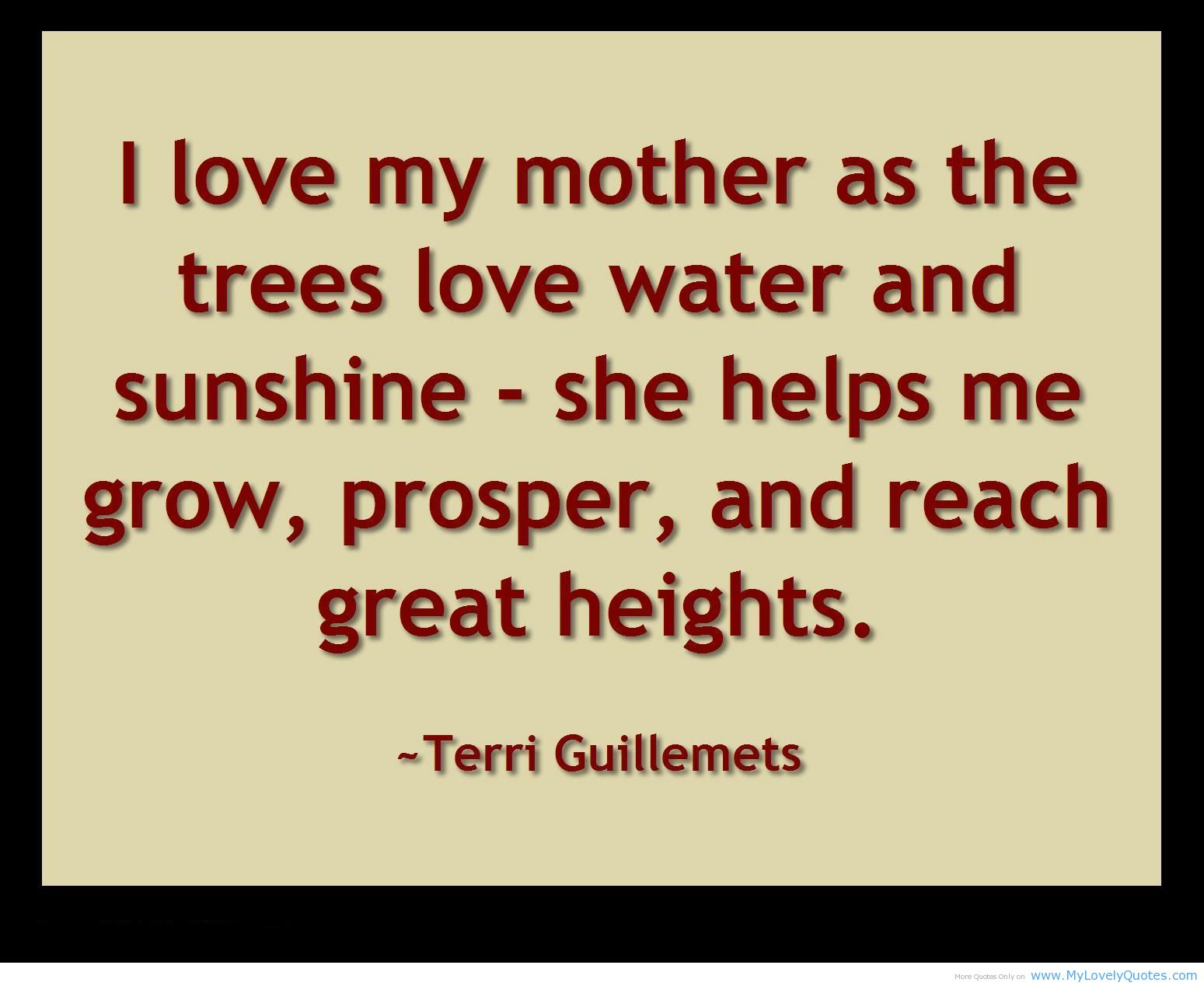 A Mothers Love Quotes 2 Happy Mother's Day  Speak Happiness